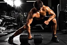 Traction with Dumbbells