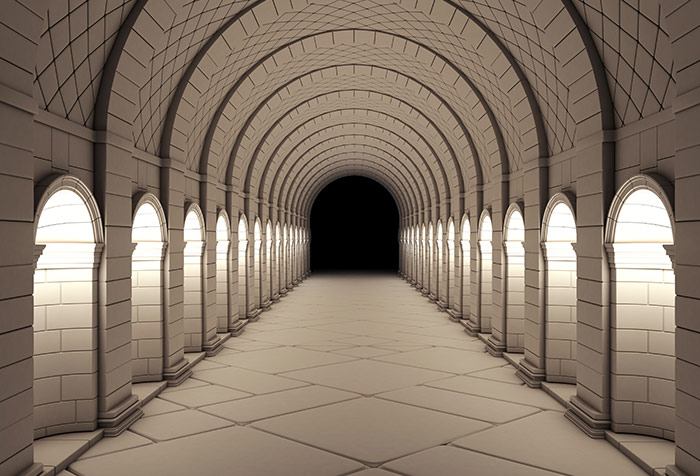 Shop Vintage Column Tunnel Wallpaper In 3d Theme