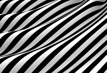 Waves on Black and White Cloth