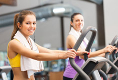 Women Training in Gym