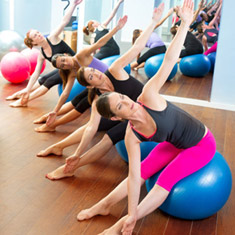 Women with Stability Ball