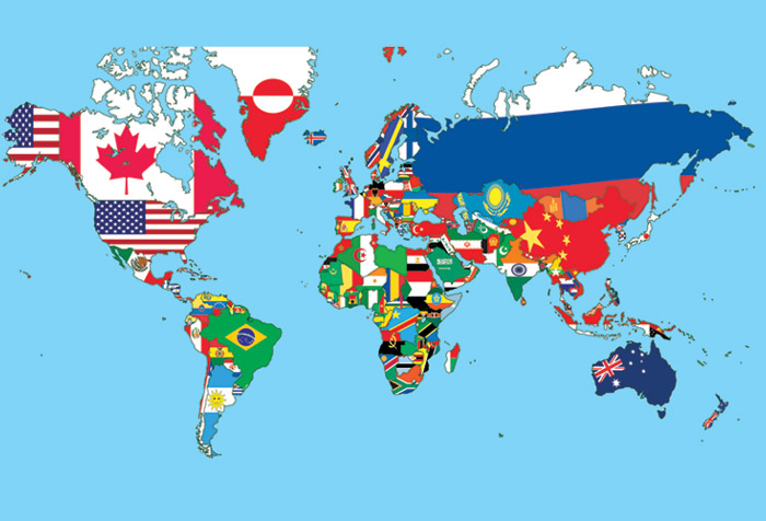 Shop world map with flags wallpaper in maps geography theme world map with flags gumiabroncs Images
