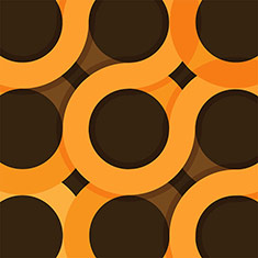 Circles on Brown Background