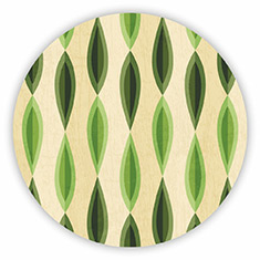 Abstract Foliage Coaster