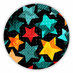 Abstract Stars Coaster
