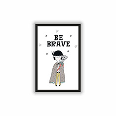 Be Brave Red Indian Boy